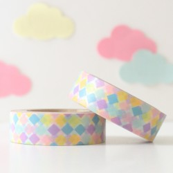 Washi tape rombos multicolores