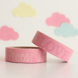 Washi tape peace and love