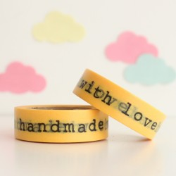 Washi tape amarillo handmade with love
