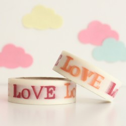 Washi tape love naranja y rojo