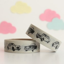 Washi tape coches negros