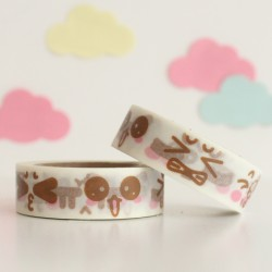Washi tape caras kawaii