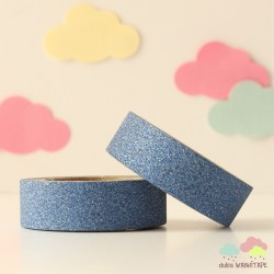 Washi Tape purpurina azul