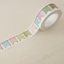 Washi tape banderines dulces
