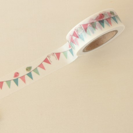 Washi tape guirnalda pajaritos