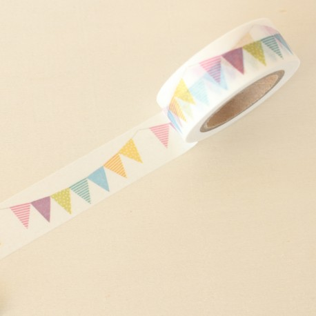 Washi tape guirnalda multicolor