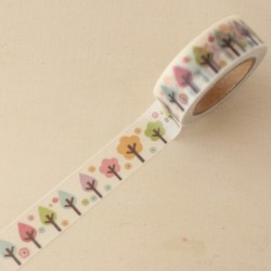 Washi tape bosque multicolor