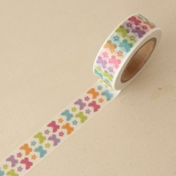 Washi tape mariposas multicolores
