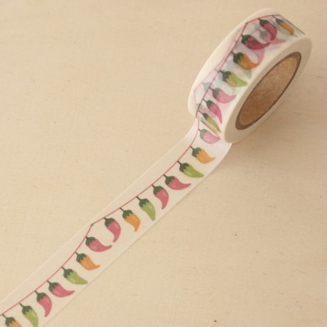 Washi tape guirnalda guindillas