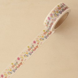 Washi tape Happy birthday party