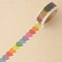 Washi tape globos multicolores