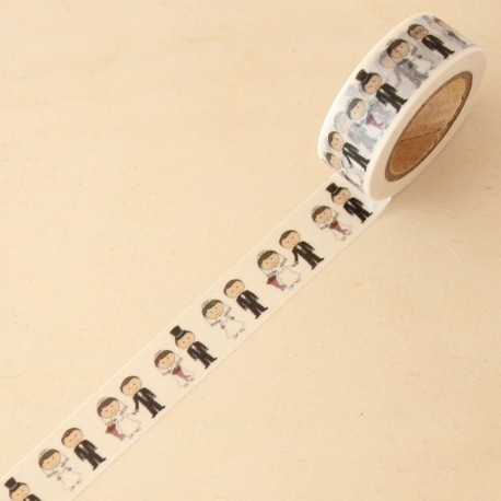 Washi tape blanco boda