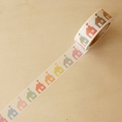 Washi tape casas de colores