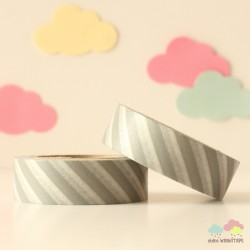 Washi Tape barras grises