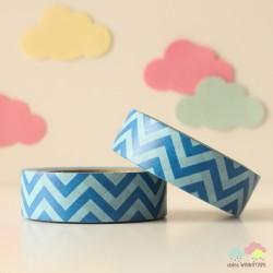 Washi Tape chevron azul