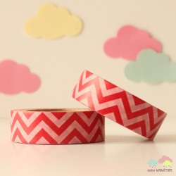 Washi Tape chevron rojo