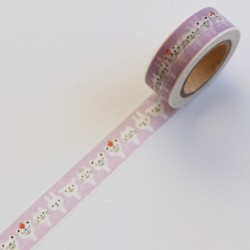 Washi tape violeta animales