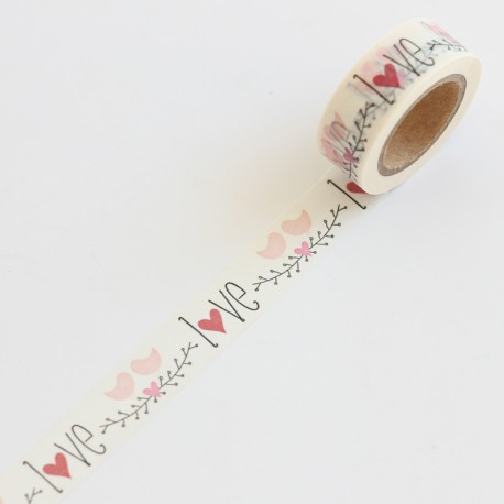 Washi tape pájaros love
