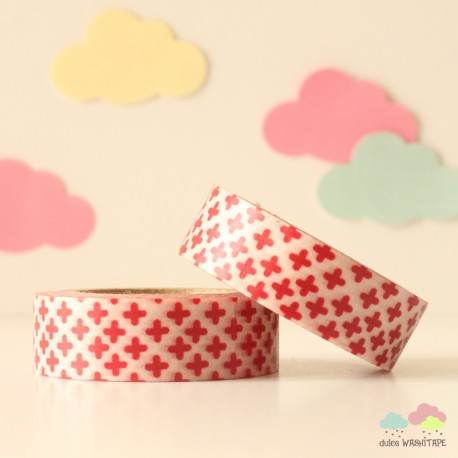 Washi Tape cruces rojas