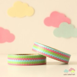 Washi Tape zigzag tricolor