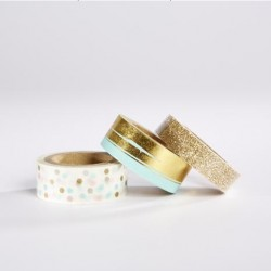 Set de 3 washi tapes foil and glitter
