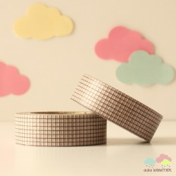 Washi Tape cuadritos negros