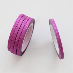 Washi tape slim purpurina fucsia