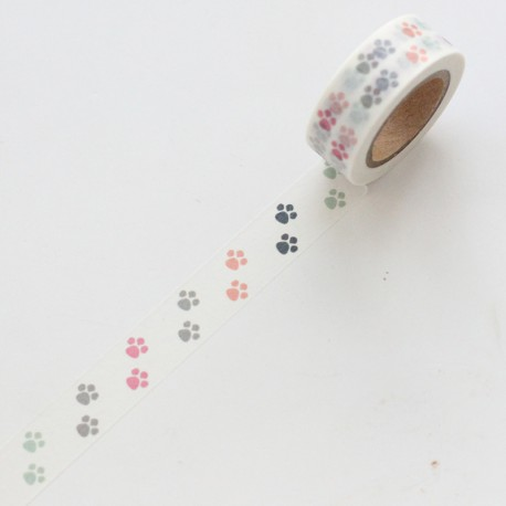 Washi tape patitas de colores