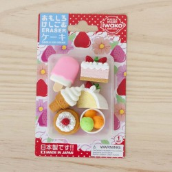Pack gomas Iwako Cake and Ice Cream