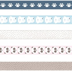 Pack 5 washi tapes Artemio Oso panda