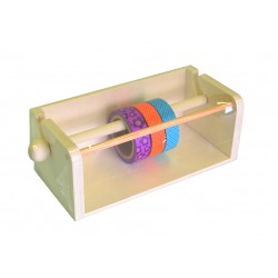 Dispensador de washi tapes de madera con 3 washi tapes