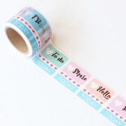Washi tape precortado agenda