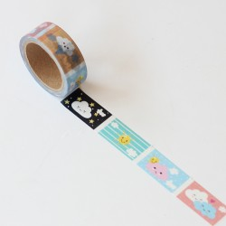 Washi tape precortado nubes