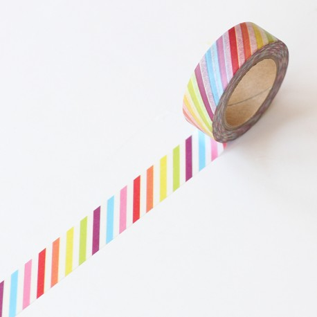 Washi tape barras multicolores