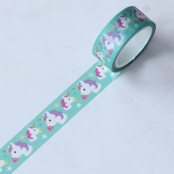 Washi tape Unicornios