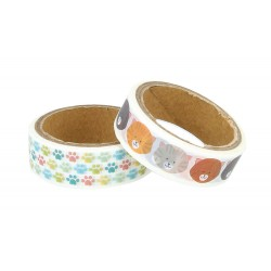 Pack 2 washi tapes Artemio gatos