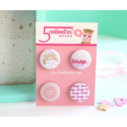 Set de Chapas autoadhesivas I LOVE SCRAP