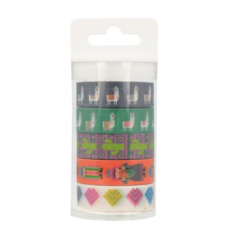 Pack 5 washi tapes Alpaca family Artemio