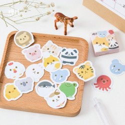 Cajita 45 stickers Animales