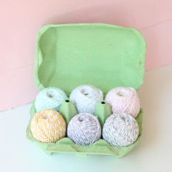 Pack 6 ovillos Baker's twine colores pastel