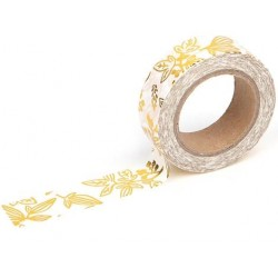 Washi Tape Little bamboo gold