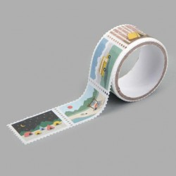 Washi tape precortado sellos Camping Dailylike