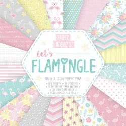 Bloc 100 papeles Let's flamingle 10cm x 10cm