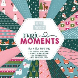 Bloc 100 papeles Magic moments 10cm x 10cm