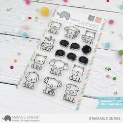 Sellos Stackable cuties Mama Elephant