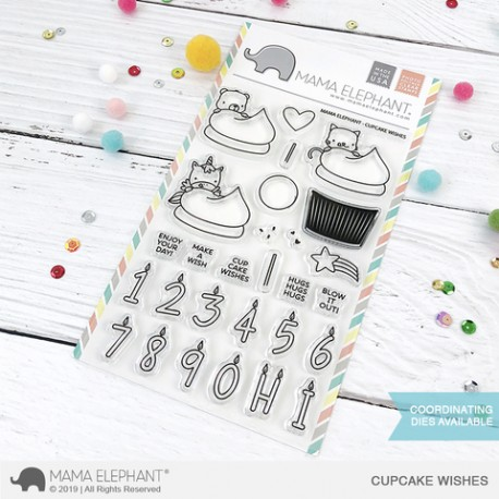 Sellos Cupcake wishes Mama Elephant