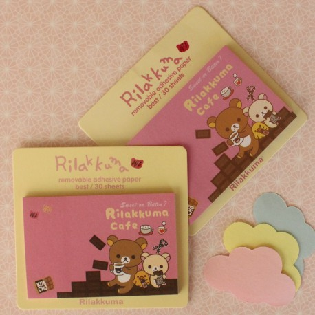30 Post-it Rilakkuma rosa café