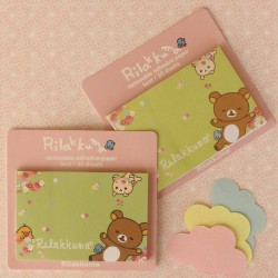 30 Post-it Rilakkuma verde flores