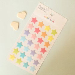 Stickers con relieve estrellas