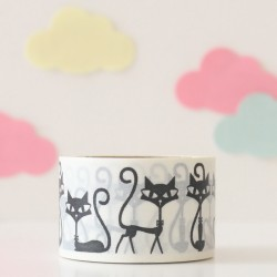 Washi tape gatos negros